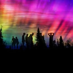 freetoedit friends northernlights polarlights