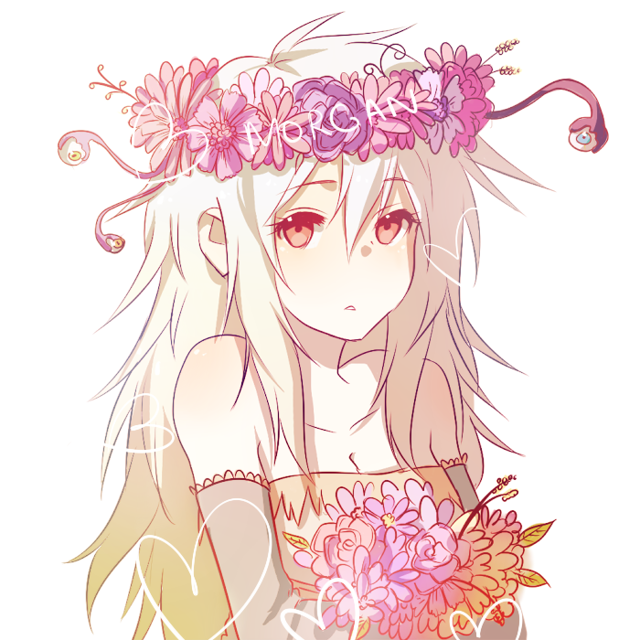 Anime flower crown beatufull nice cool cute kawii gir