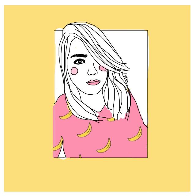 Me #art #drawing #drawingoftheday #sunday #bananas #pink #ilustration #FreeToEdit